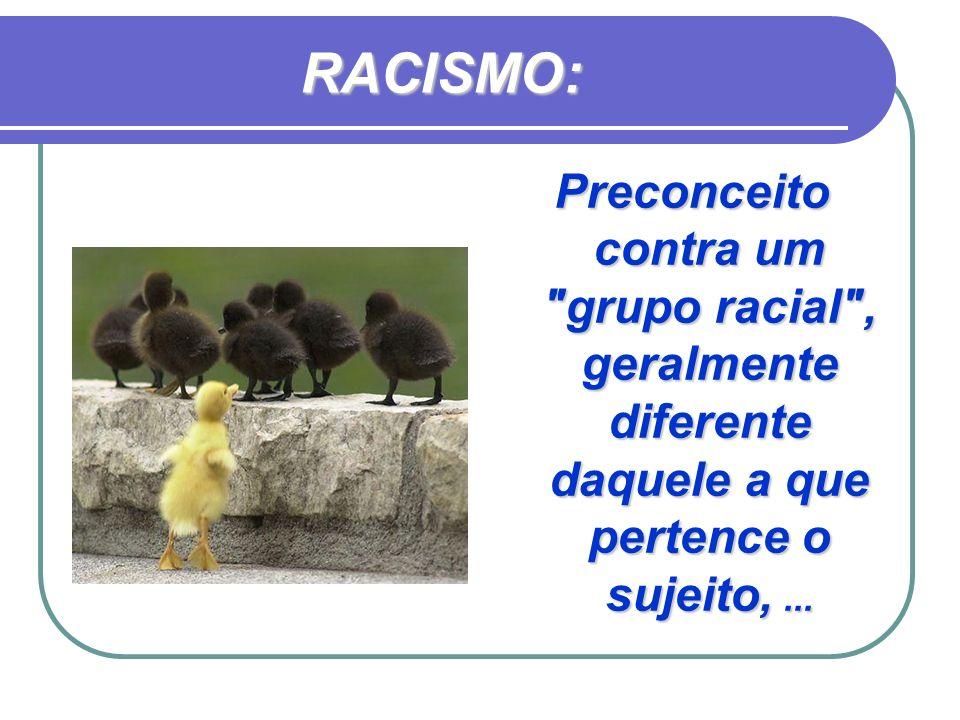 RACISMO: Preconceito contra um