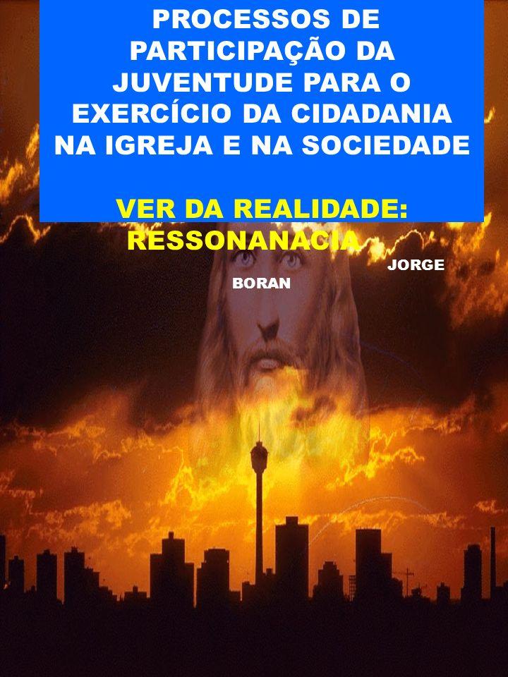 PROCESSOS DE PARTICIPAÇÃO DA JUVENTUDE PARA O EXERCÍCIO DA CIDADANIA NA IGREJA E NA SOCIEDADE VER DA REALIDADE: RESSONANACIA JORGE BORAN