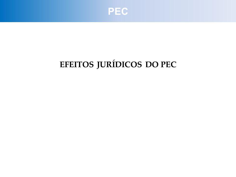 EFEITOS JURÍDICOS DO PEC PEC