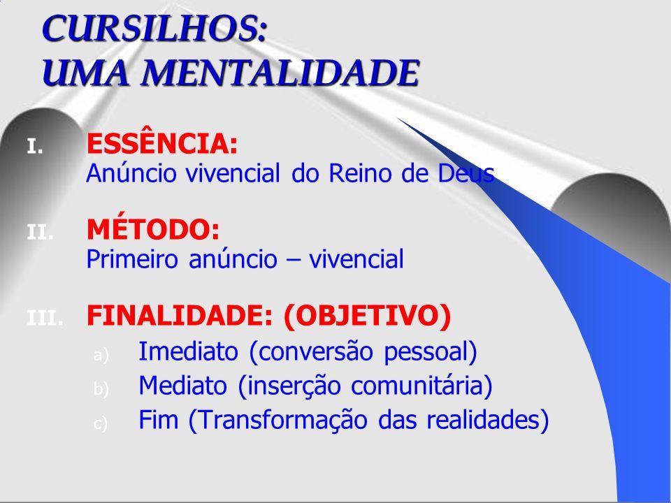 O CRISTÃO COMPROMETIDO Início da 3ª fase do CUR – inserção pastoral – comunitária ESTILO: entusiasmado – convicto TESTEMUNHO: de ação transformadora CONTEÚDO: a.