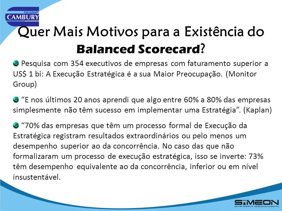 Quer Mais Motivos para a Existência do Balanced Scorecard .