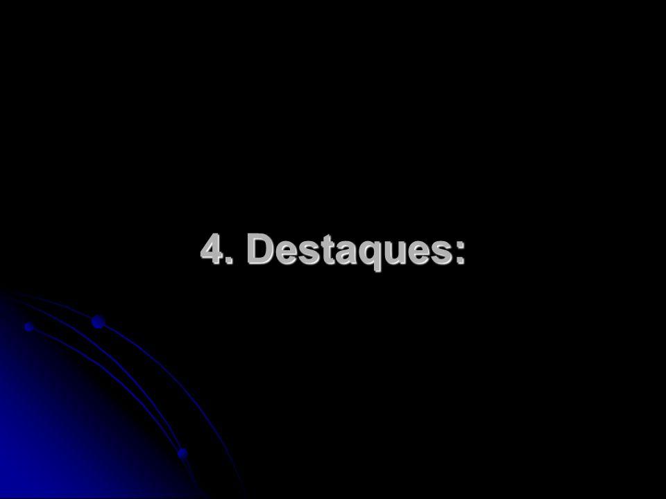 4. Destaques: