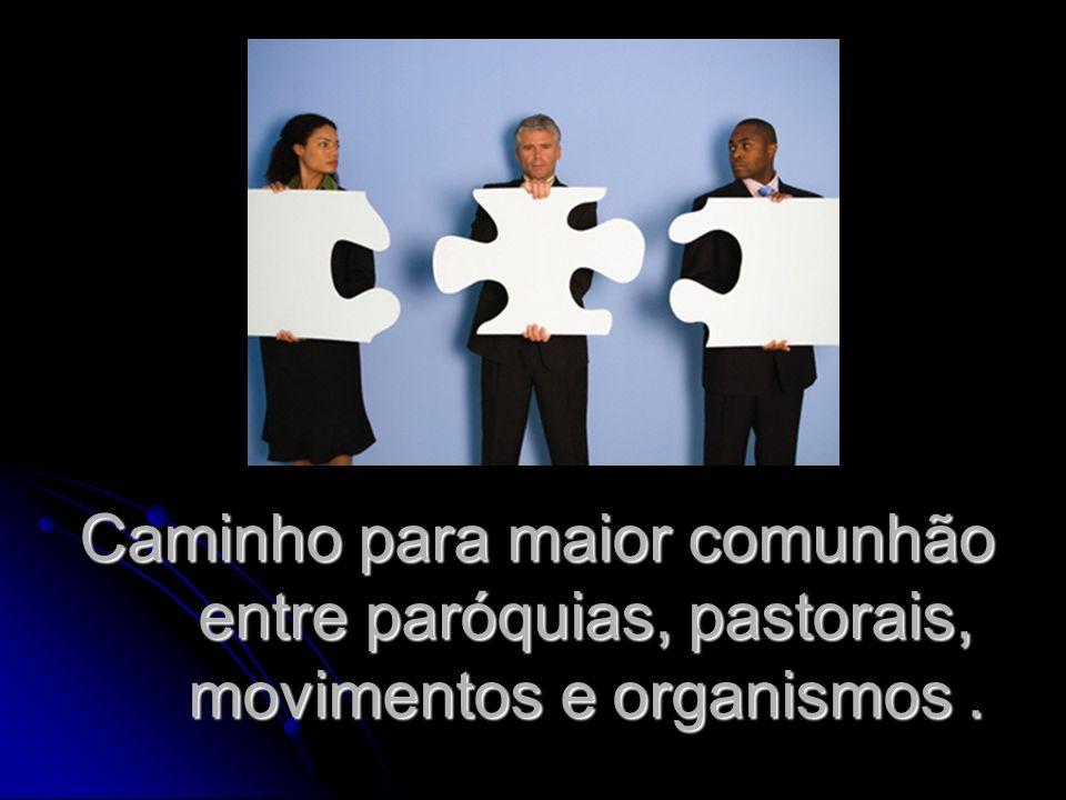 Caminho para maior comunhão entre paróquias, pastorais, movimentos e organismos.