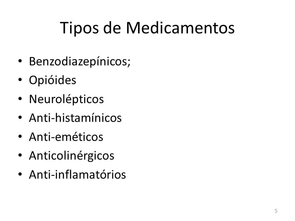 Benzodiazepínico Atividade ansiolítica, anticonvulsivante, amnésica e relaxamento muscular.