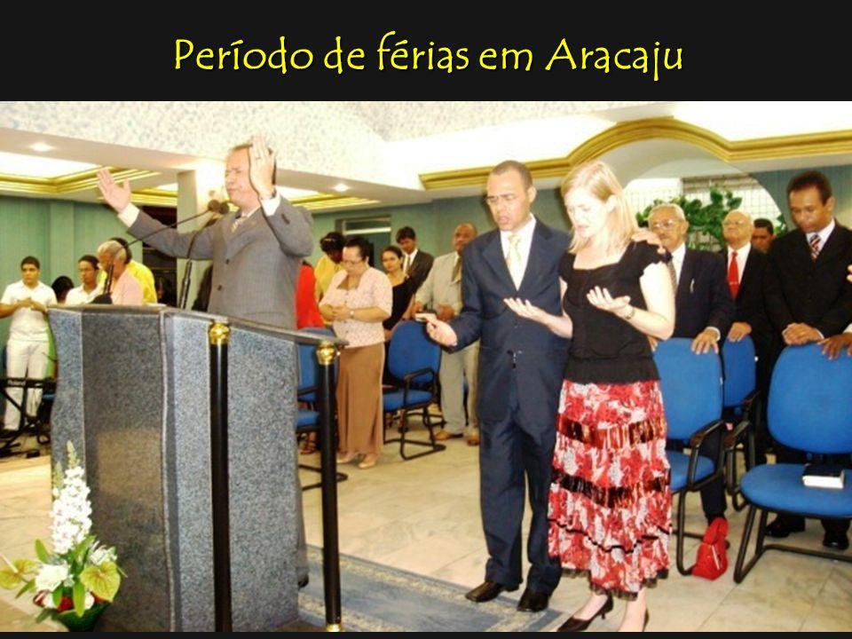 Período de férias em Aracaju