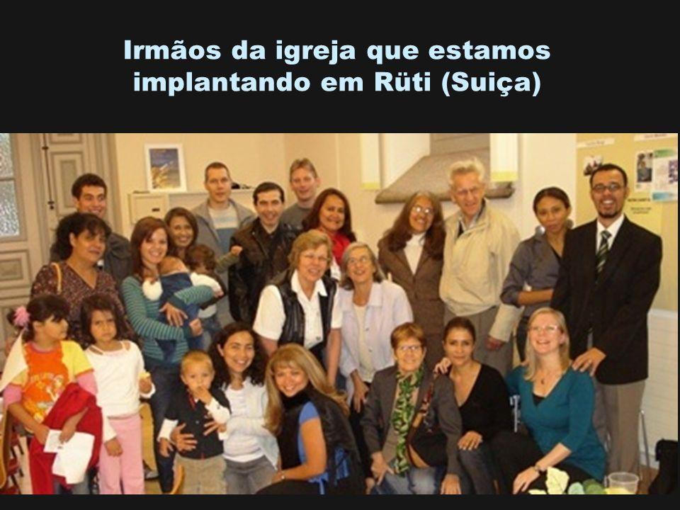 Irmãos da igreja que estamos implantando em Rüti (Suiça)
