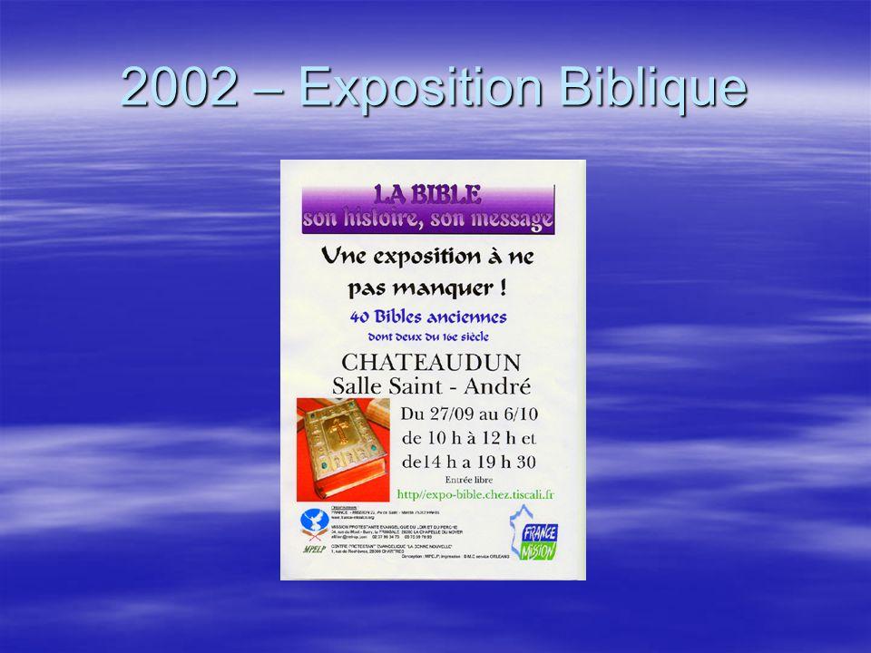 A Bíblia em seis temas Exposição da Bíblia de sexta-feira à noite a domingo na sala Saint-André em Châteaudun.