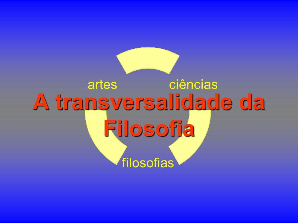 ciências filosofias artes A transversalidade da Filosofia