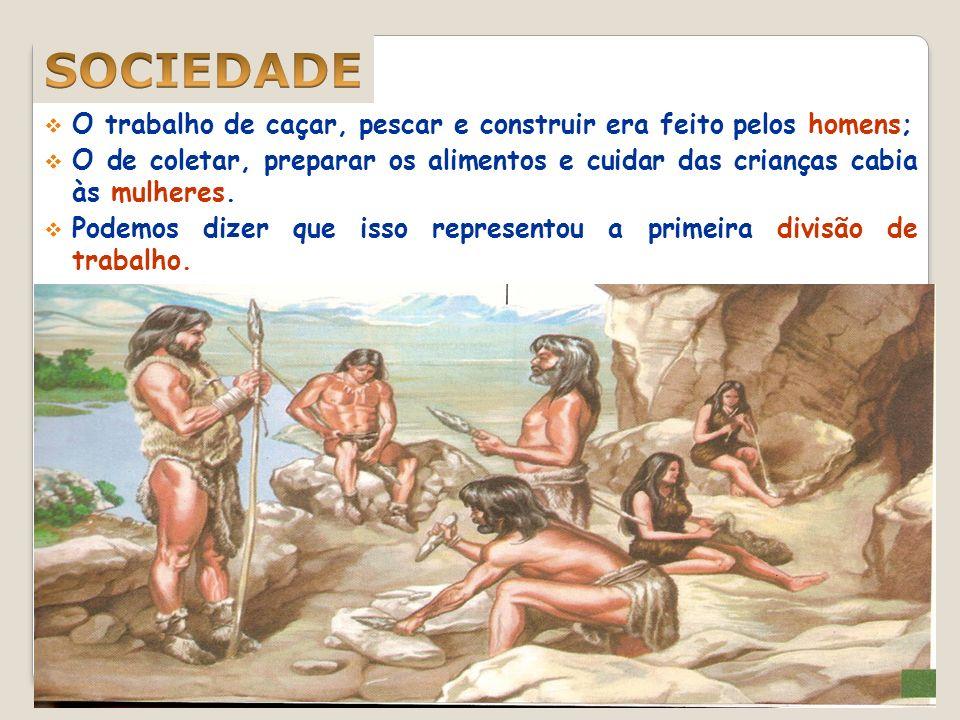 Nomadismo; Coleta de frutos; Caça e pesca; Instrumentos rudimentares; Dependência total da natureza; Habitação em cavernas; Organização em bandos. Sem