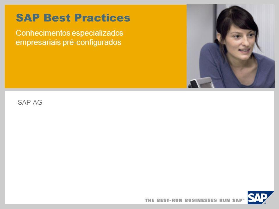 SAP Best Practices Conhecimentos especializados empresariais pré-configurados SAP AG