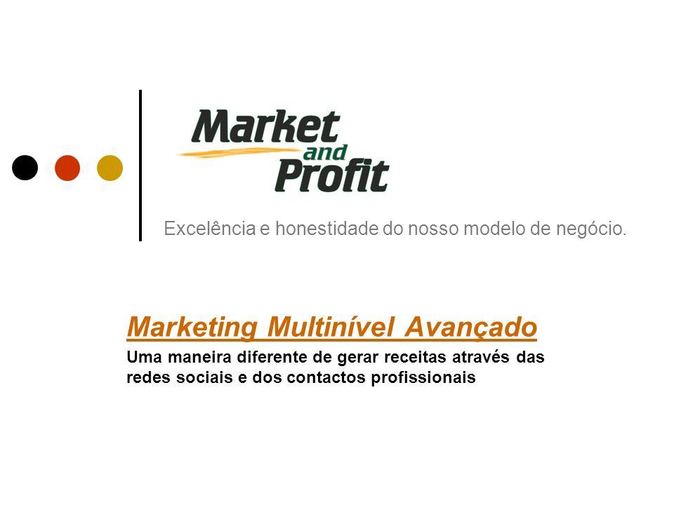 Excelência e honestidade do nosso modelo de negócio. Marketing Multinível Avançado Uma maneira diferente de gerar receitas através das redes sociais e