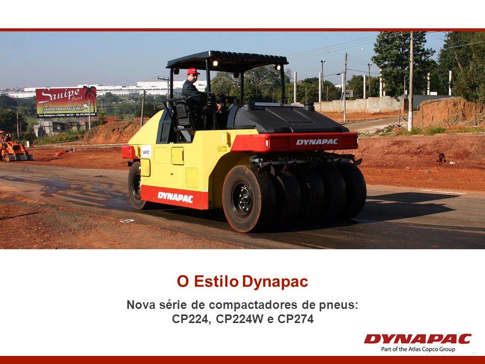 O Estilo Dynapac Nova série de compactadores de pneus: CP224, CP224W e CP274