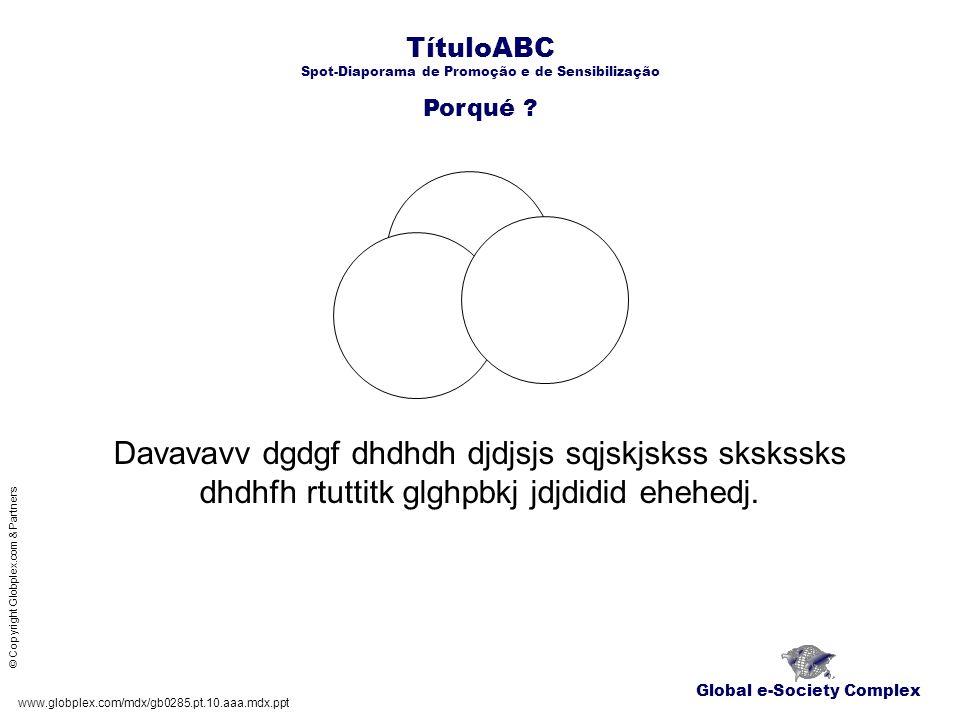 TítuloABC Spot-Diaporama de Promoção e de Sensibilização O qué .