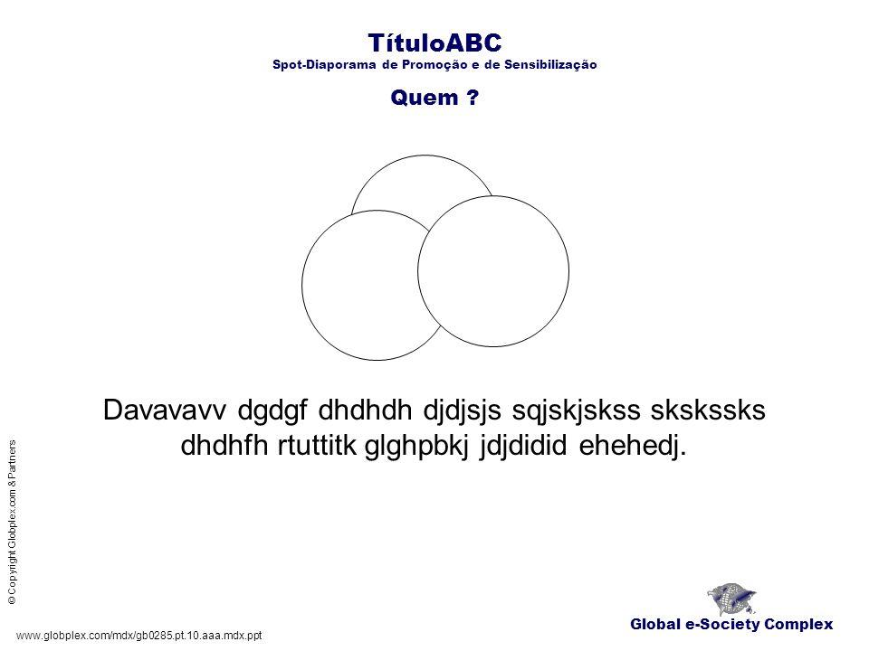 TítuloABC Spot-Diaporama de Promoção e de Sensibilização Onde .