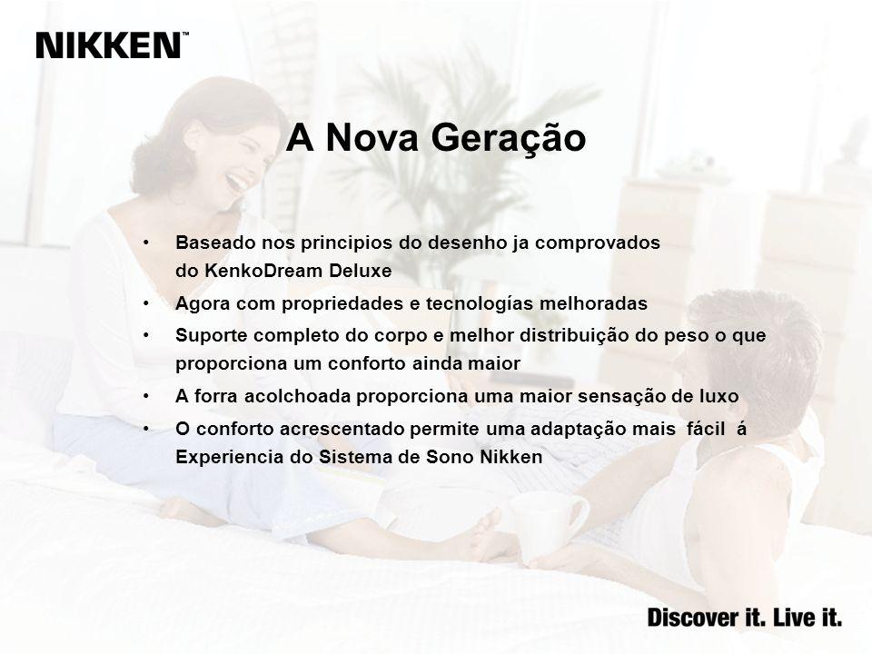 A Nova Geração Baseado nos principios do desenho ja comprovados do KenkoDream Deluxe Agora com propriedades e tecnologías melhoradas Suporte completo