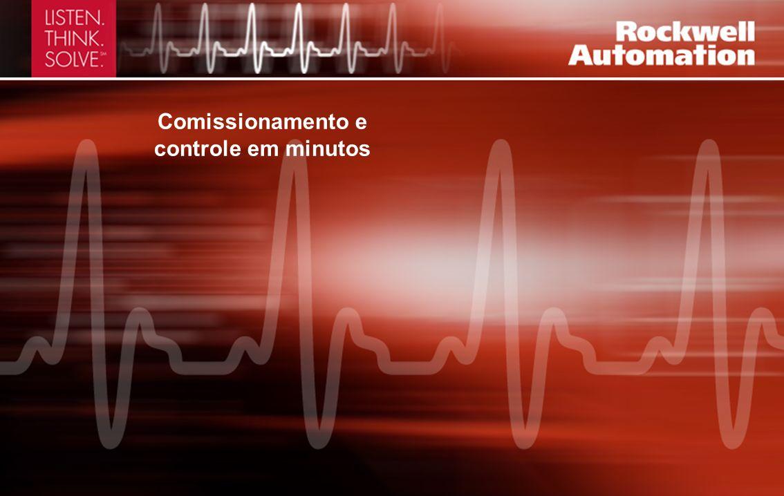 Comissionamento e controle em minutos