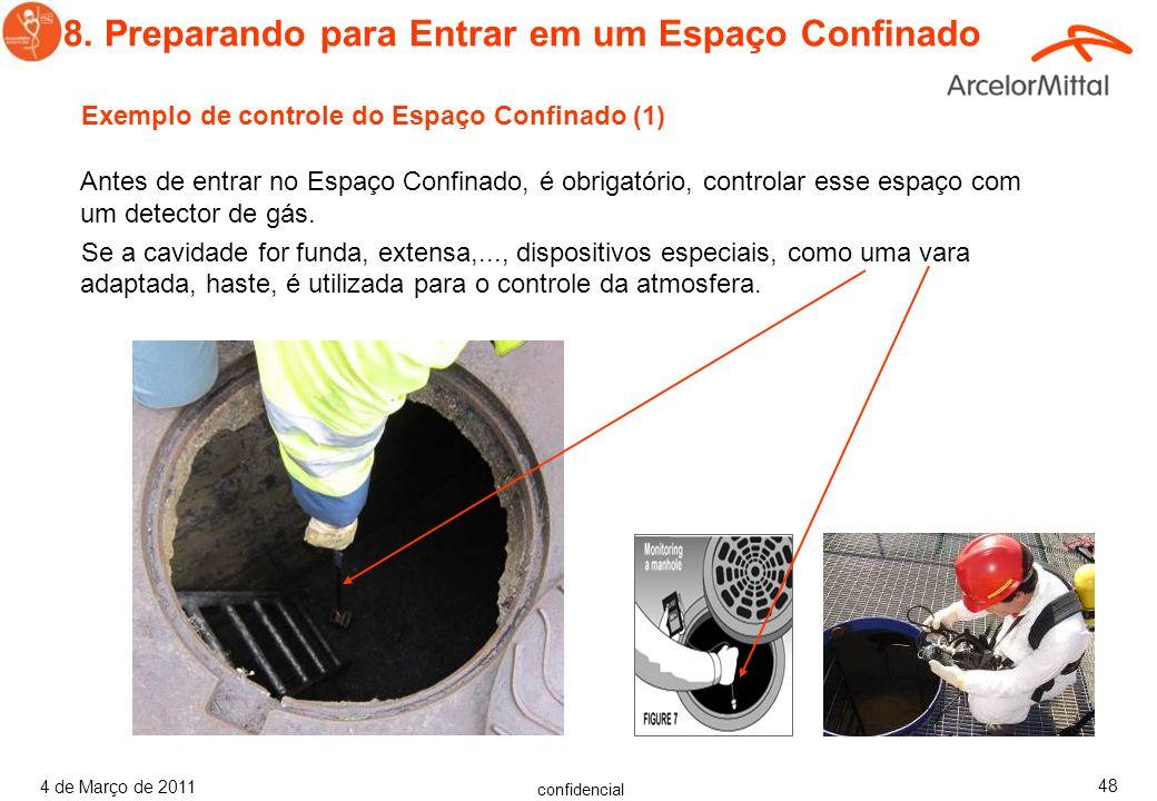 confidencial 4 de Março de 2011 47 Monitor de Quatro Gases em Espaço Confinado O detector de 1 a 4 gases detecta com segurança 4 gases simultaneamente