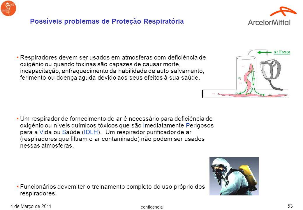 confidencial 4 de Março de 2011 52 Ventoinhas e ventiladores fornecem diluição mecânica da ventilação. Assegure-se de que a ventoinha possui o tamanho