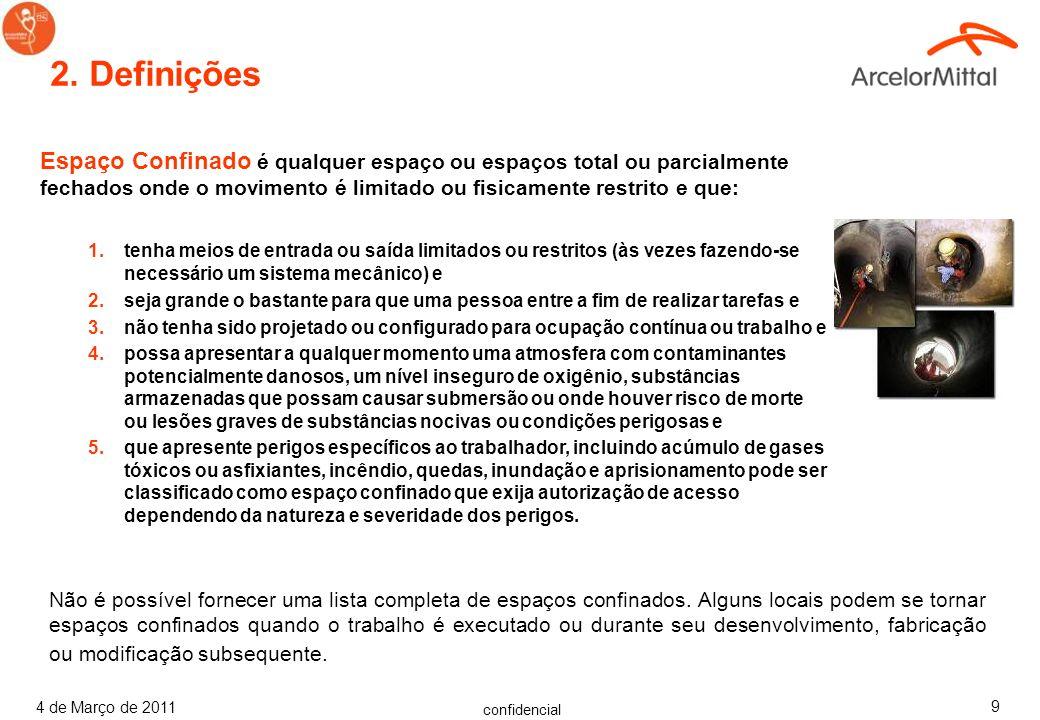 confidencial 4 de Março de 2011 69 Outros Perigos