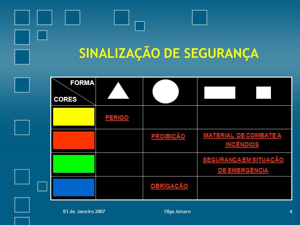 03 de Janeiro 2007Olga Amaro15 CORRECÇÃO DO TESTE 1.Associe o significado a cada forma geométrica.