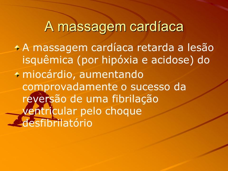 DADOS HEMODINÂMICOS: A massagem cardíaca, quando feita corretamente, garante 30% do fluxo cerebral e coronariano e pode manter uma PA sistólica em tor