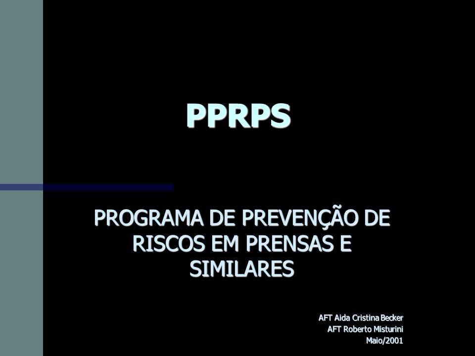 PPRPS PROGRAMA DE PREVENÇÃO DE RISCOS EM PRENSAS E SIMILARES AFT Aida Cristina Becker AFT Roberto Misturini Maio/2001