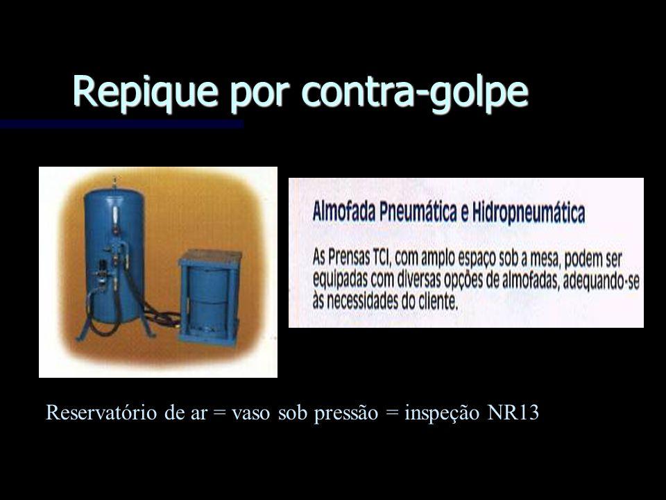 Repique por contra-golpe Reservatório de ar = vaso sob pressão = inspeção NR13
