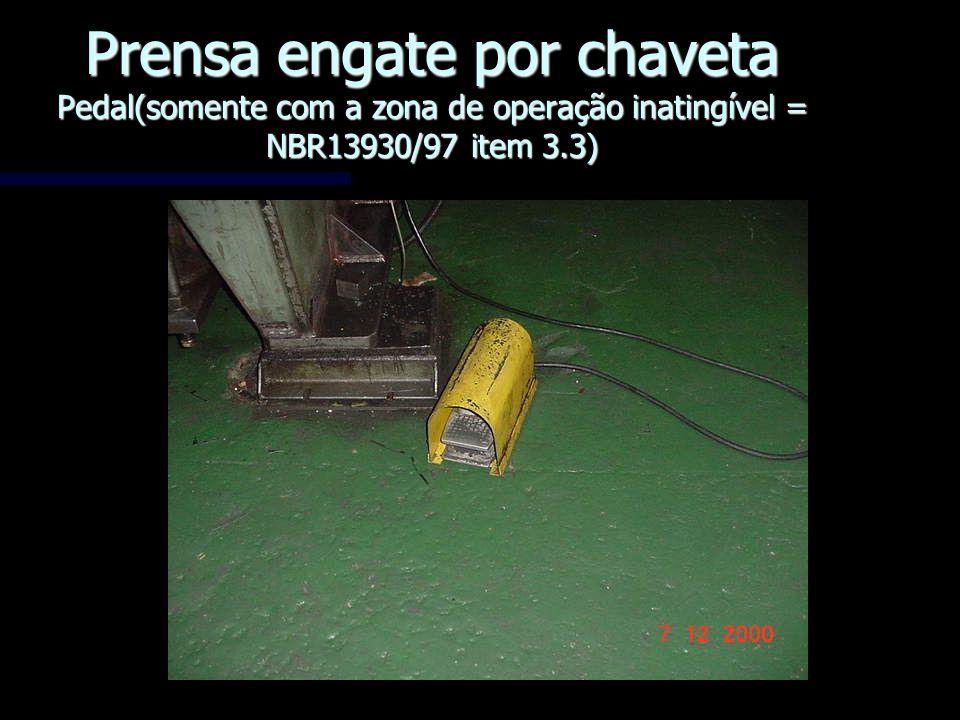 Prensa engate por chaveta Pedal(somente com a zona de operação inatingível = NBR13930/97 item 3.3)