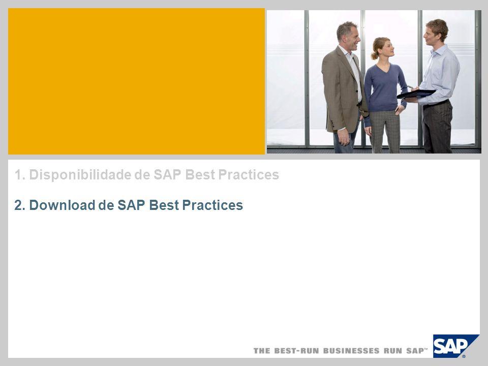 Qual é o conteúdo de um pacote SAP Best Practices.