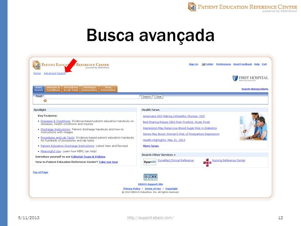 Busca avançada http://support.ebsco.com/5/11/201312