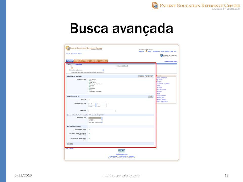 Busca avançada http://support.ebsco.com/5/11/201313