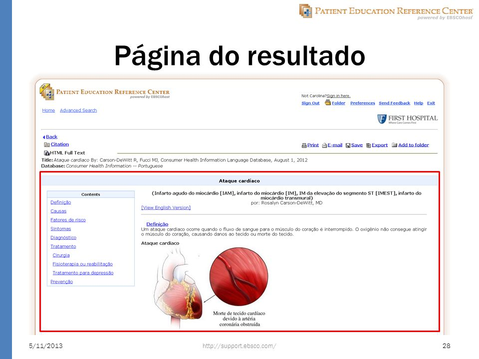 Página do resultado http://support.ebsco.com/5/11/201328