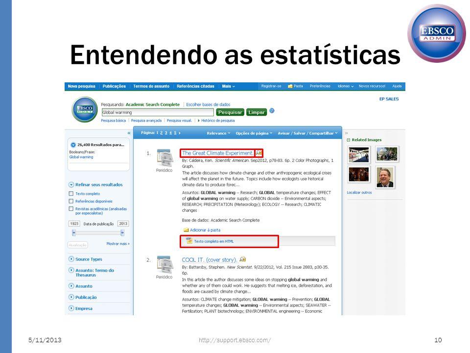 Entendendo as estatísticas http://support.ebsco.com/5/11/201310