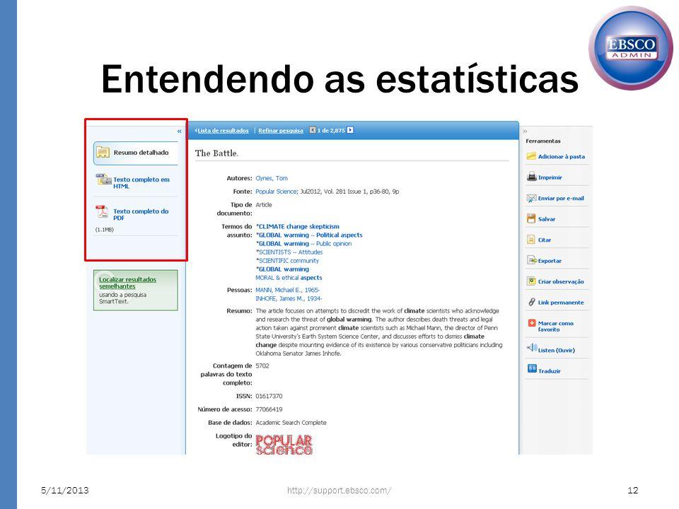 Entendendo as estatísticas http://support.ebsco.com/5/11/201312