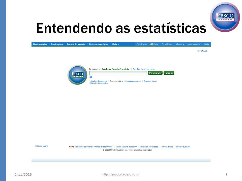 Entendendo as estatísticas http://support.ebsco.com/5/11/20137