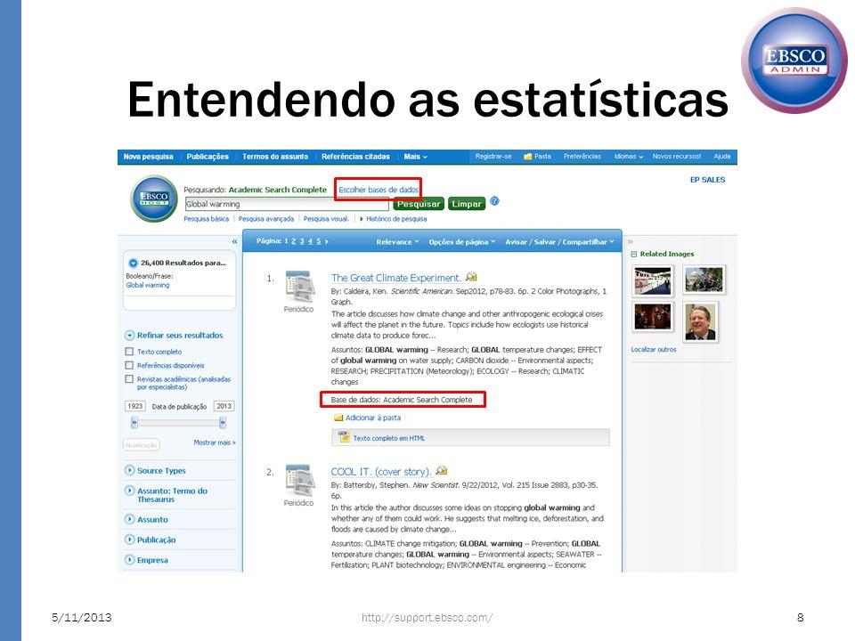 Entendendo as estatísticas http://support.ebsco.com/5/11/20138
