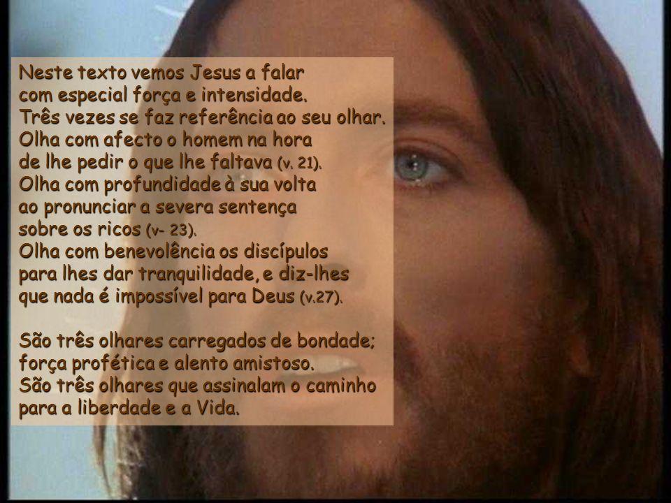 O homem disse a Jesus: – Mestre, tudo isso tenho eu cumprido desde a juventude Este homem construiu um sistema religioso moral que, dando-lhe seguranç