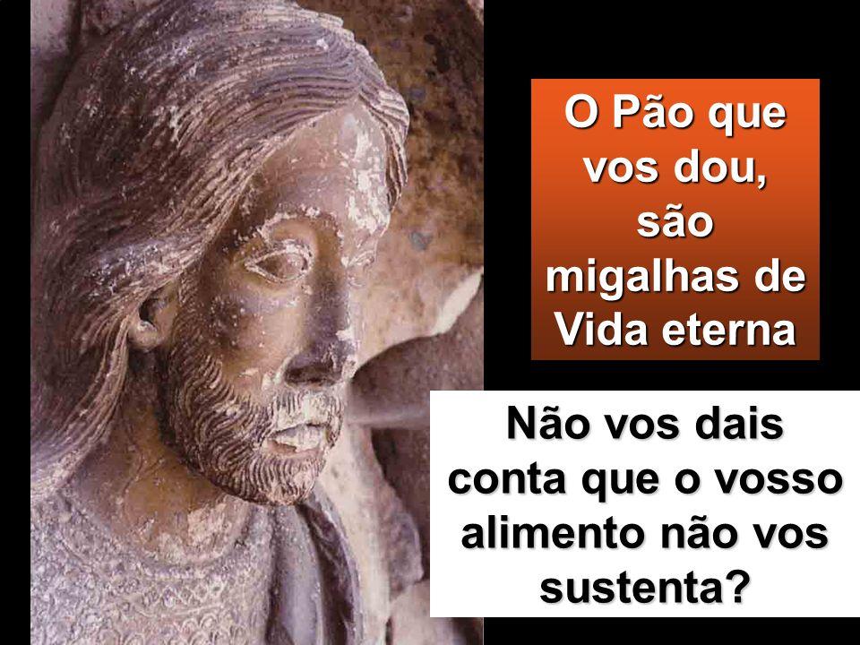 Trabalhai, não tanto pela comida que se perde, mas pelo alimento que dura até à vida eterna e que o Filho do homem vos dará. A Ele é que o Pai, o próp