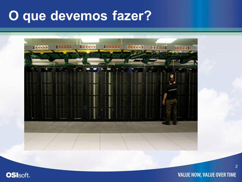 3 O que acontece quando? PI Server PI Server PI-SDK Bufferização dos dados Interface do PI