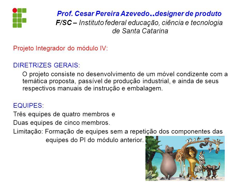 Projeto Integrador do módulo IV: DIRETRIZES GERAIS: O projeto consiste no desenvolvimento de um móvel condizente com a temática proposta, passível de