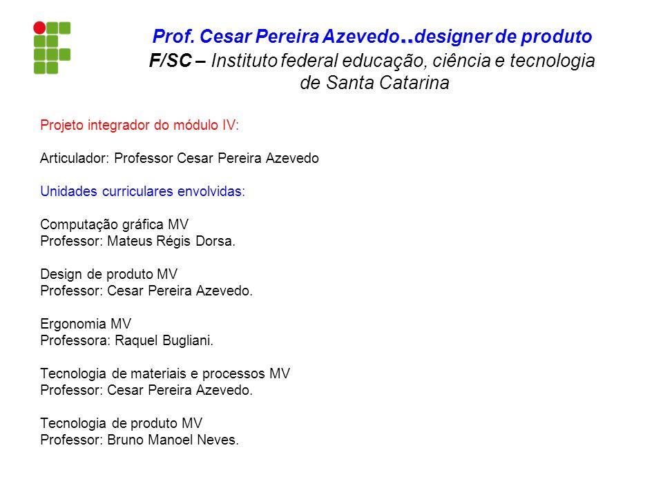 Projeto integrador do módulo IV: Articulador: Professor Cesar Pereira Azevedo Unidades curriculares envolvidas: Computação gráfica MV Professor: Mateu