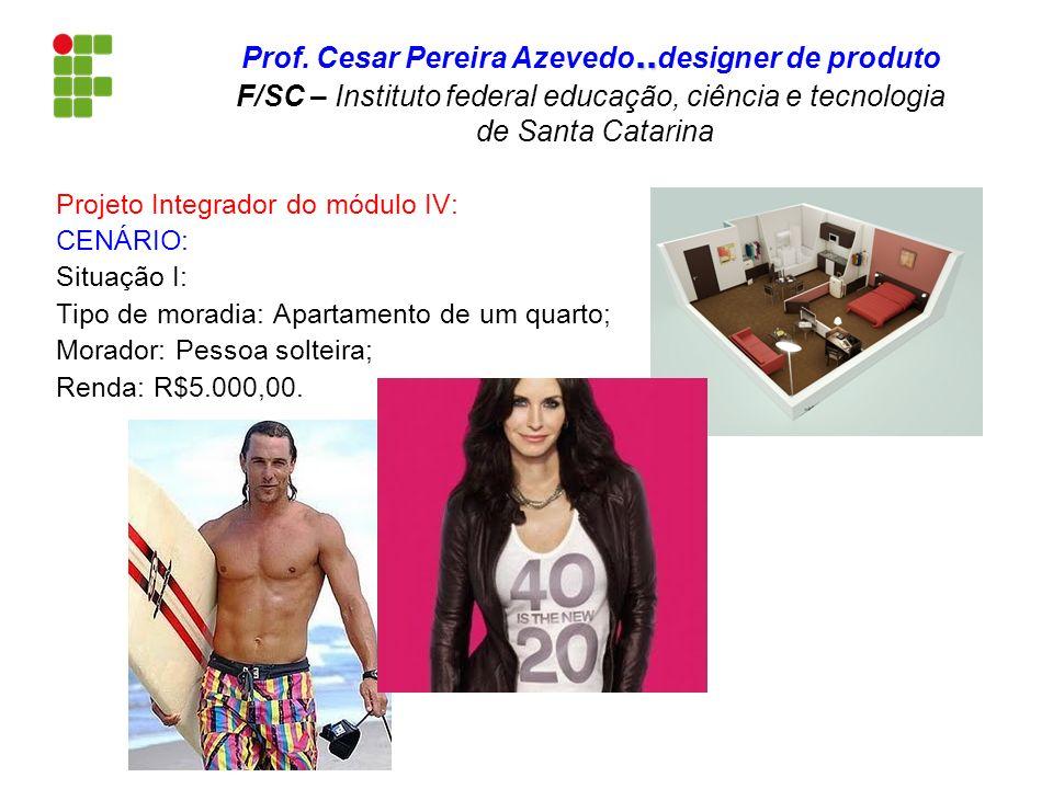 Projeto Integrador do módulo IV: CENÁRIO: Situação I: Tipo de moradia: Apartamento de um quarto; Morador: Pessoa solteira; Renda: R$5.000,00... Prof.