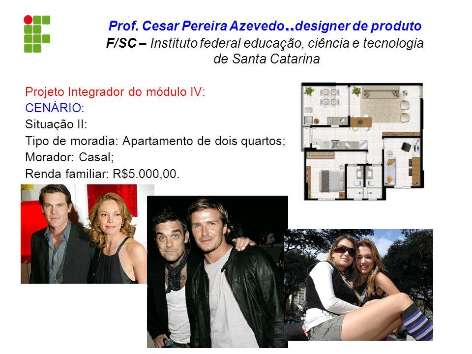 Projeto Integrador do módulo IV: CENÁRIO: Situação II: Tipo de moradia: Apartamento de dois quartos; Morador: Casal; Renda familiar: R$5.000,00... Pro