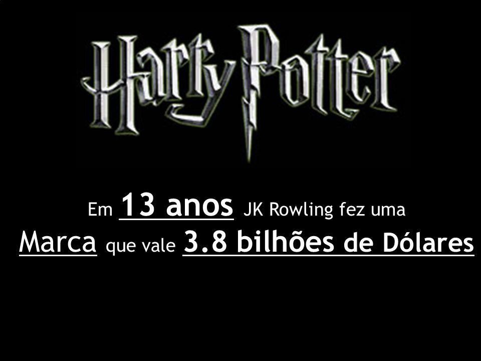 Em 13 anos JK Rowling fez uma Marca que vale 3.8 bilhões de Dólares