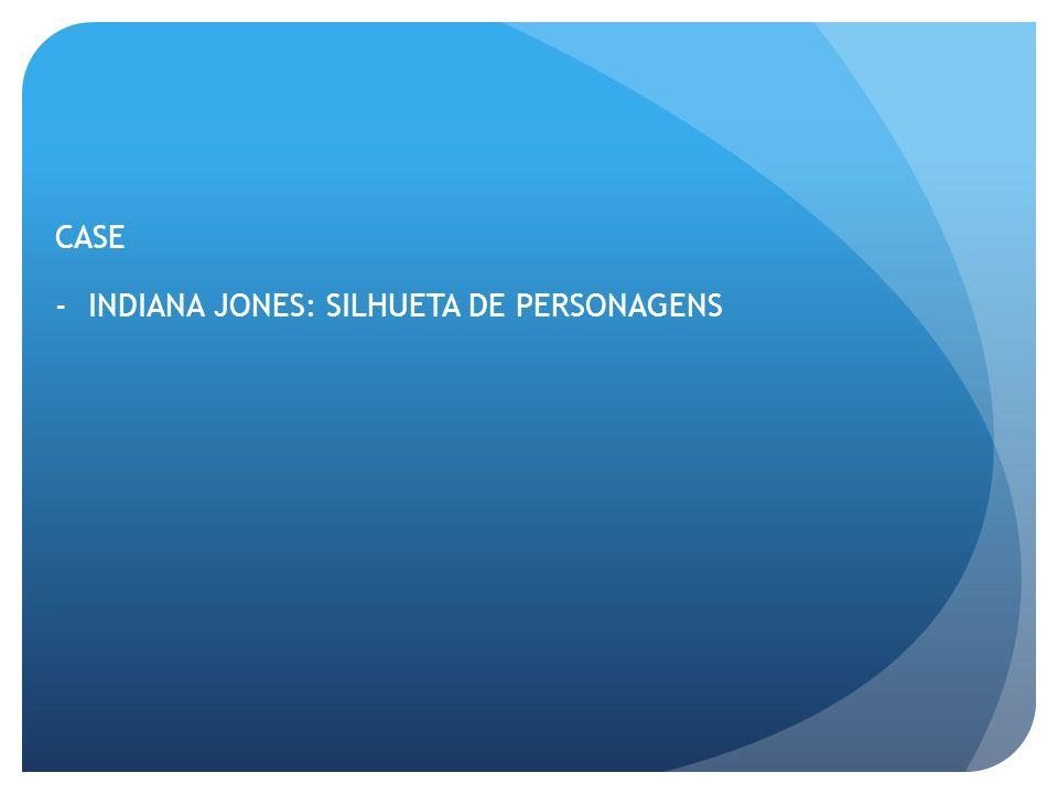CASE -INDIANA JONES: SILHUETA DE PERSONAGENS