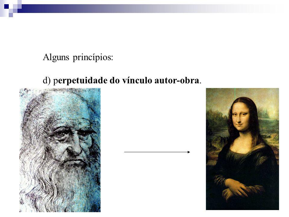 Alguns princípios: d) perpetuidade do vínculo autor-obra.