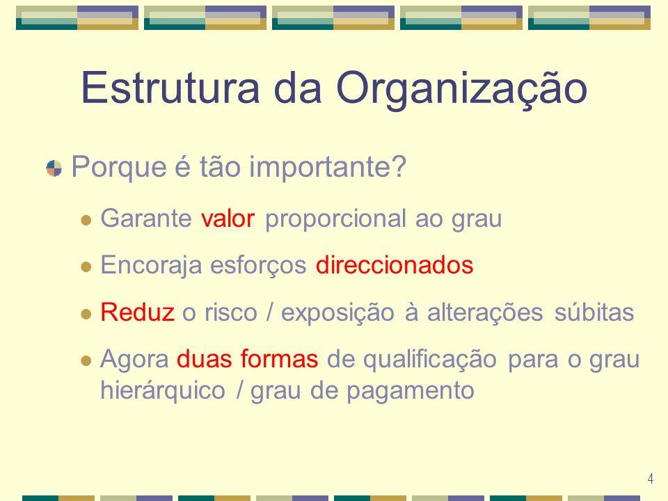 4 Estrutura da Organização Porque é tão importante.