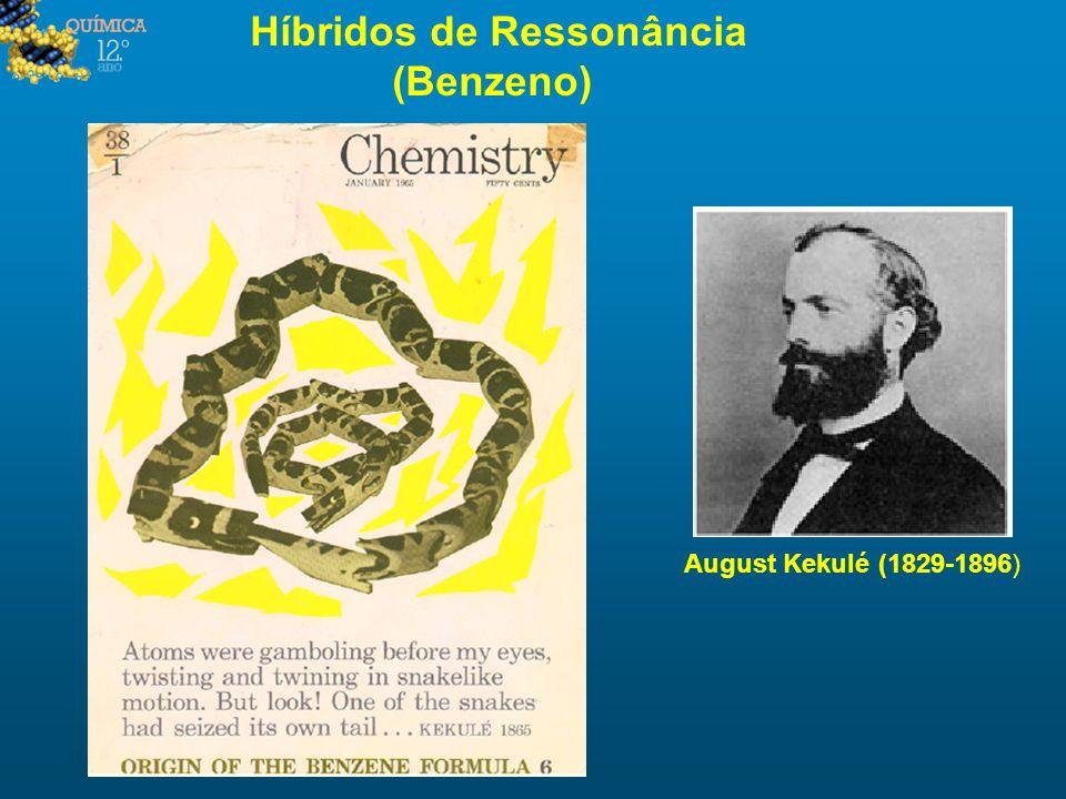 Híbridos de Ressonância (Benzeno) August Kekulé (1829-1896)