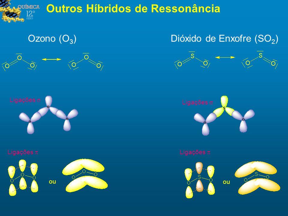 Outros Híbridos de Ressonância Ozono (O 3 )Dióxido de Enxofre (SO 2 ) ou Ligações ou