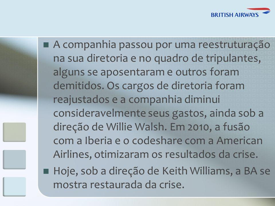 A companhia passou por uma reestruturação na sua diretoria e no quadro de tripulantes, alguns se aposentaram e outros foram demitidos.
